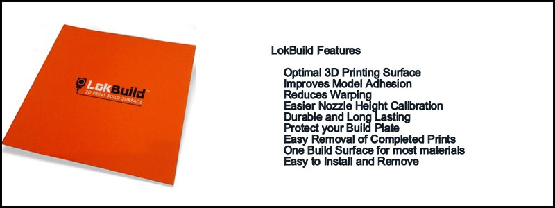 New In LokBuild, the best build plate for printing most filaments.