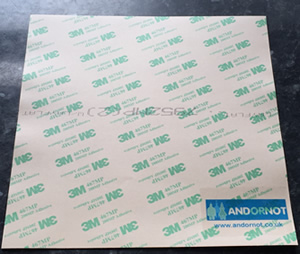 3M 468MP 8″ inch square adhesive transfer tape sheet